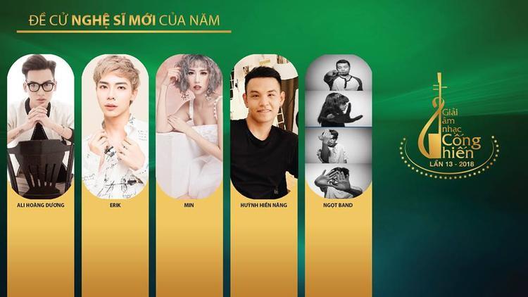 Ali xuất hiện trong top 5 đề cử Nghệ sĩ mới của năm - Cống Hiến 2018. Đây là 1 giải thưởng mà rất nhiều sao trẻ mong muốn có vinh dự được góp mặt.