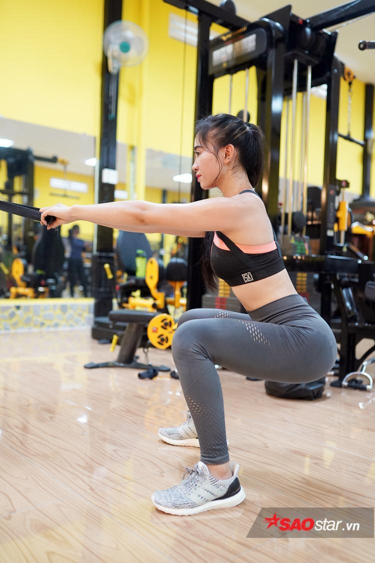 """Gym đã giúp cho Kim Nguyên """"lột xác"""" trở thành một trong những hot girl ở Cần Thơ."""