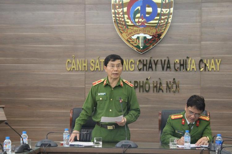 Thiếu tướng Hoàng Quốc Định, Giám đốc Cảnh sát PCCC Hà Nội.