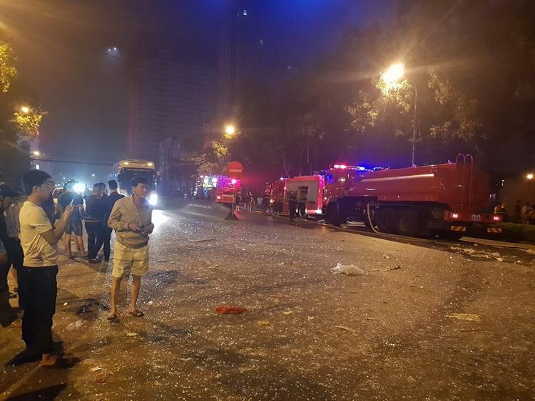 Lực lượng cứu hộ đã có mặt ngay lập tức.