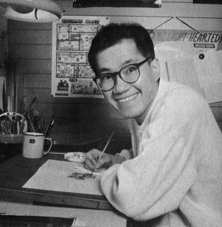 Chân dung của tác giả Toriyama Akira.