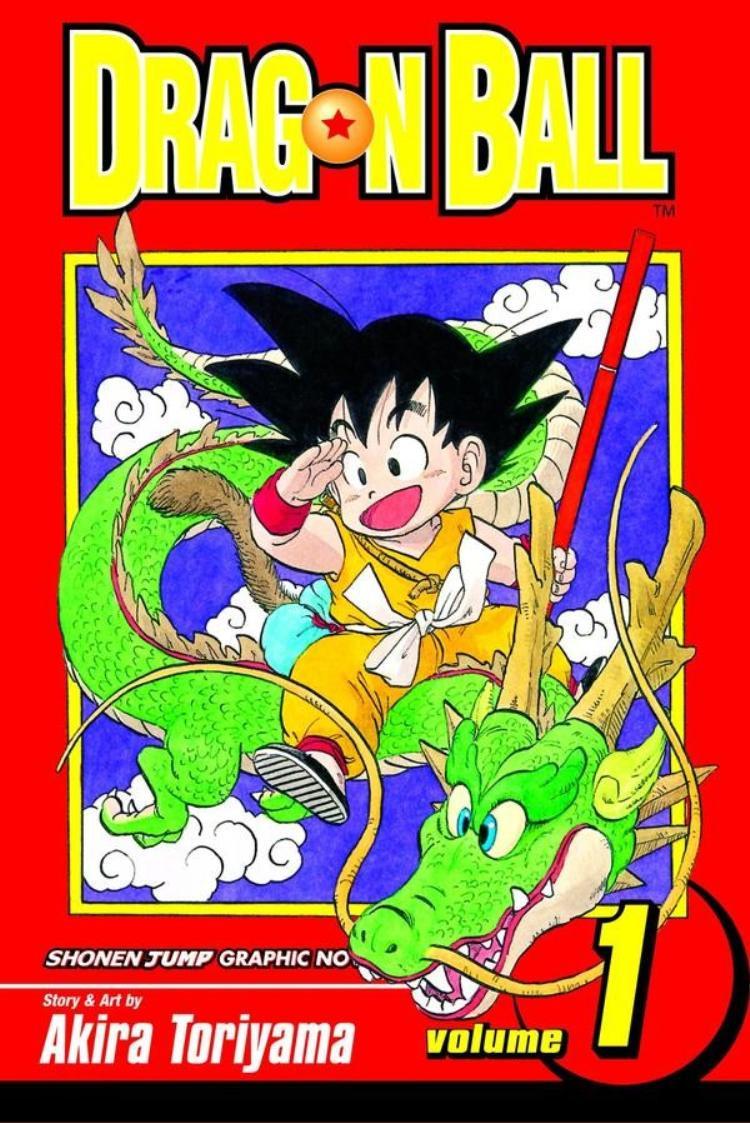 """Bìa truyện tập đầu tiên của """"Dragon Ball""""."""
