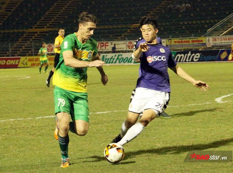 Trận đấu giữa Cần Thơ và Hà Nội kết thúc với tỷ số 0-3 nghiêng về đội khách.