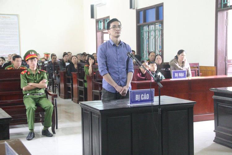 Bị cáo Hậu tại phiên tòa.