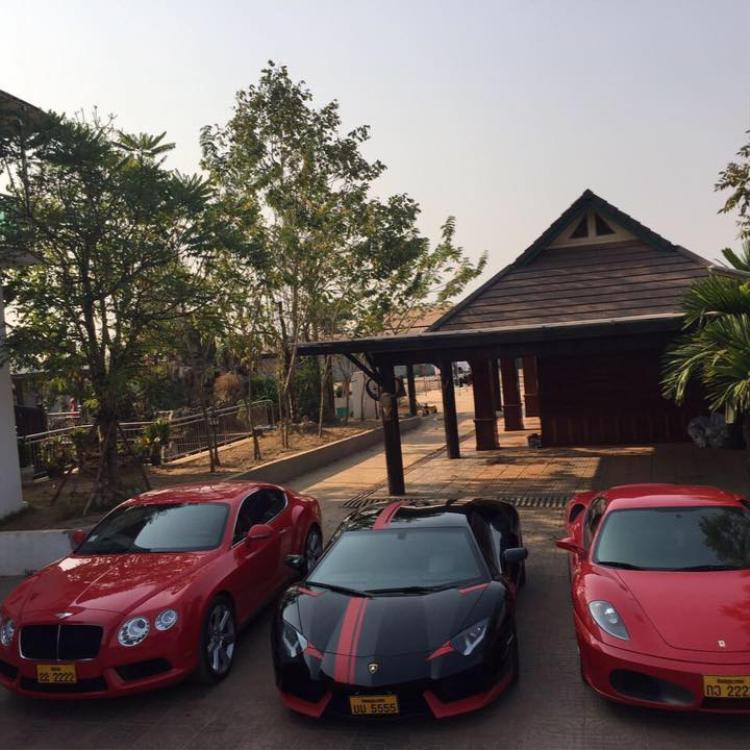 Xaysana sở hữu 20 siêu xe đắt tiền. Ảnh: Sanook