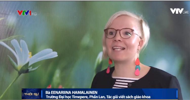 Bà Eenariina Hamalainen, trường ĐH Timepere, Phần Lan, tác giả viết sách giáo khoa.