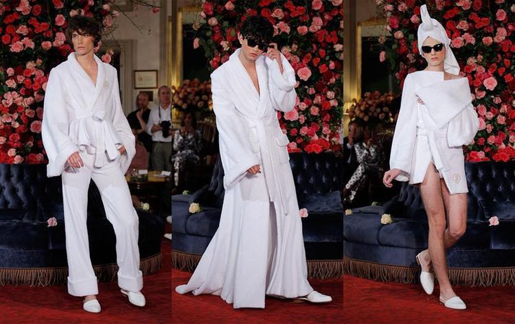 Thương hiệu thời trang Palomo Spain cũng đã từng lăng-xê loạt trang phục lấy ý tưởng từ áo choàng tắm trong BST xuân, hè 2018 của hãng.