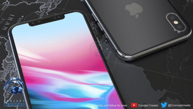 iPhone X Plus có màn hình gần như chiếm trọn mặt trước.