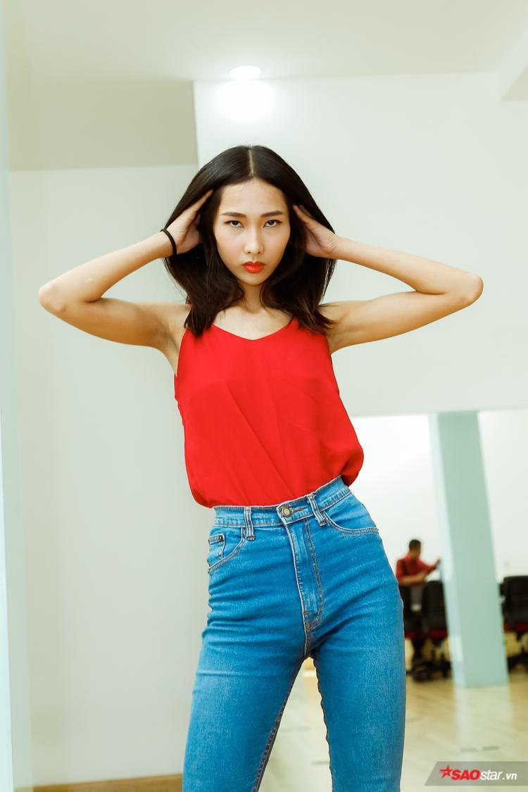 Đến với Siêu mẫu Việt Nam là cách để chân dài khẳng định tài năng không thua kém đàn chị Hoàng Thùy.