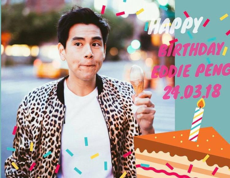 Bức ảnh đáng yêu được các fan Việt thiết kế để chúc mừng sinh nhật nam diễn viên từ fanpage Bành Vu Yến Eddie Peng 彭于晏 - EdGroup.