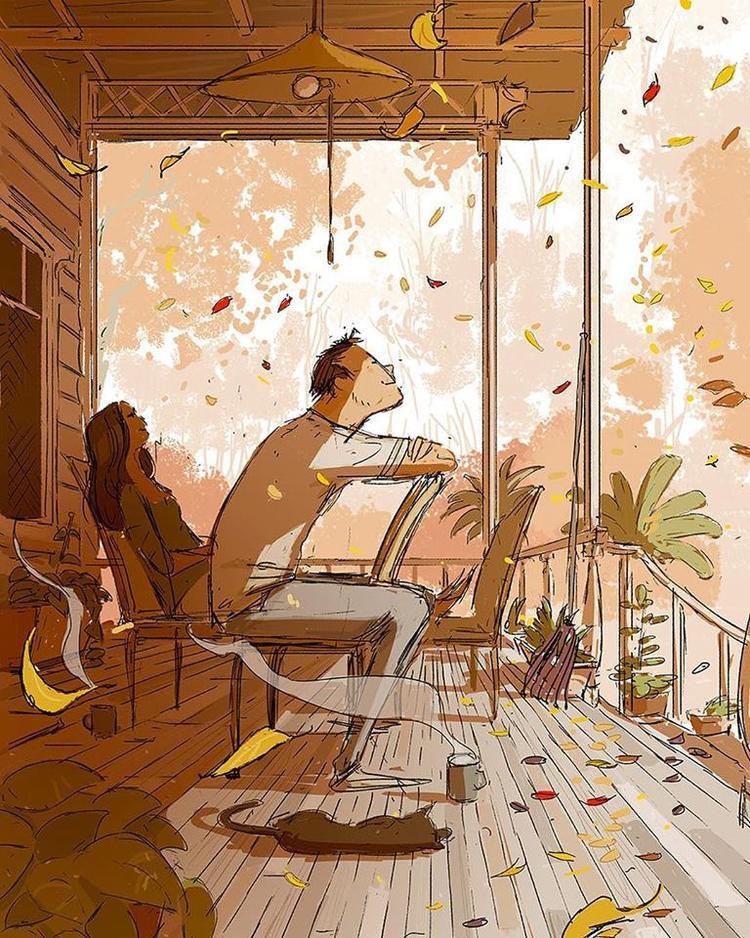 Chỉ cần được ngồi với người mình yêu, thì sự im lặng nào cũng thật sự rất dễ chịu.