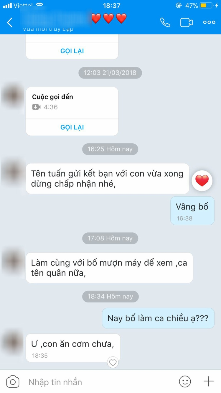 Tin nhắn giữa Bố và Ngọc Lan khiến cư dân mạng bất giác mỉm cười vì sự quan tâm quá đỗi dễ thương của ông Bố này.