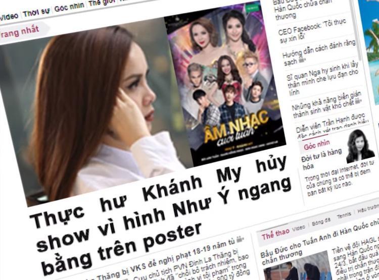 Sự việc hủy show của Khánh My khiến truyền thông phải nhập cuộc.