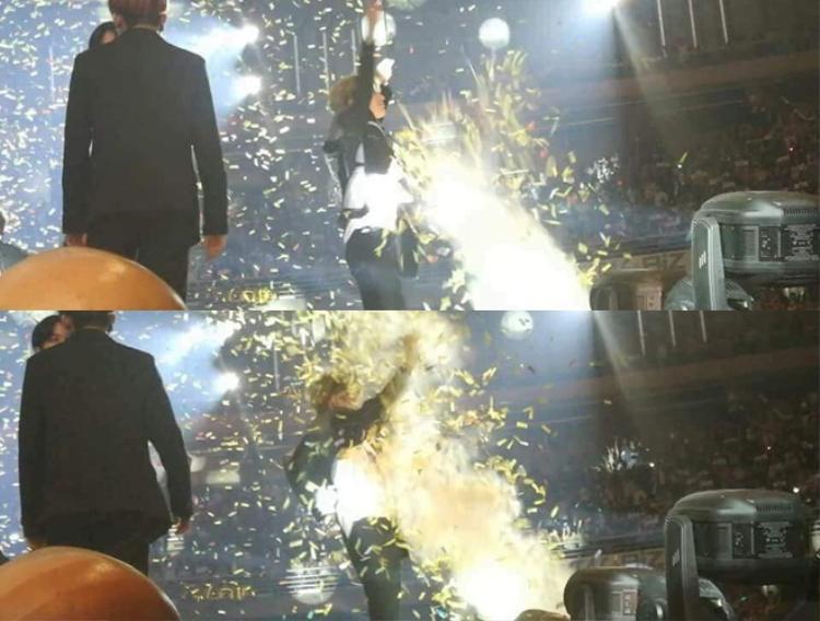 """Hình ảnh em út SHINee không kịp trở tay với tình huống """"dở khóc dở cười""""."""