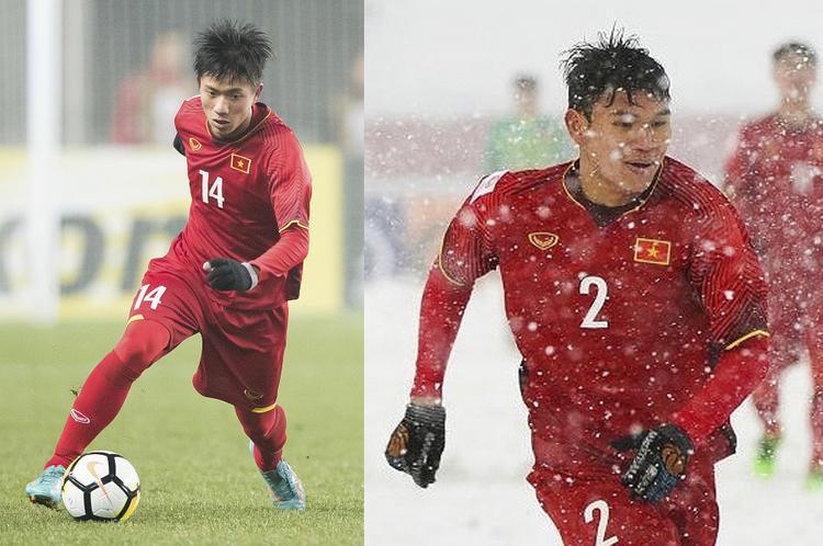 Văn Đức (trái) và Xuân Mạnh - 2 cầu thủ thể hiện tốt trong màu áo U23 tiếp tục được gọi lên tuyển Việt Nam.