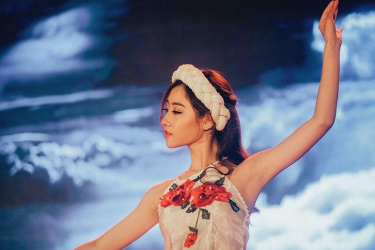 Thùy Dương tham dự cuộc thi Press Beauty 2018 với tài năng múa.
