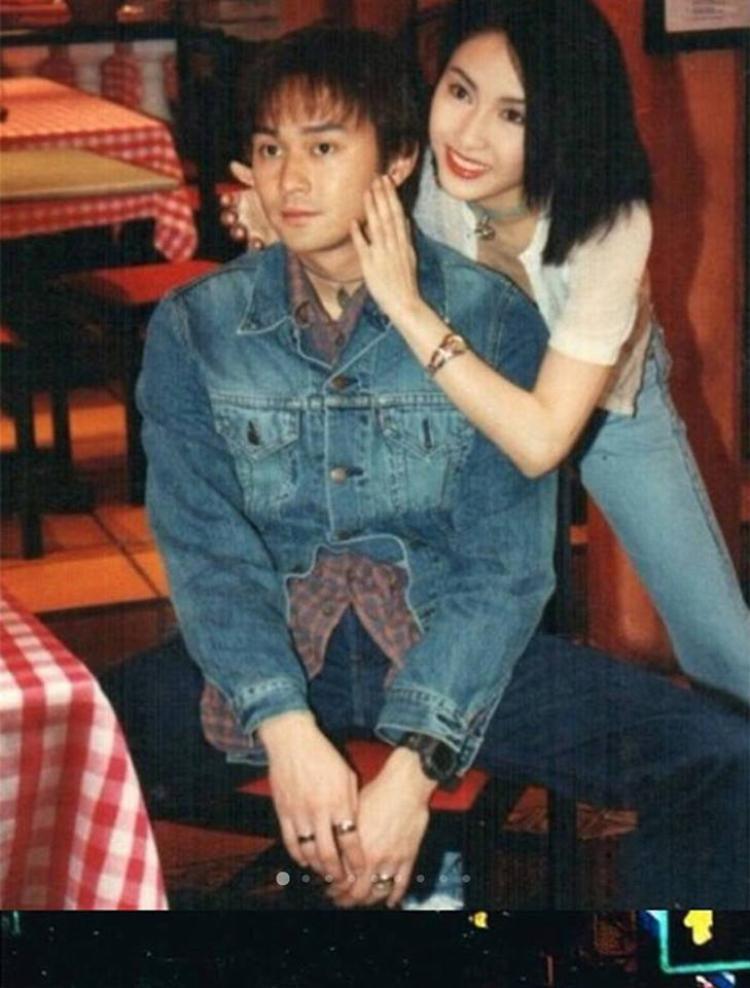 Lê Tư đẹp xuất sắc trong bức hình chụp cùng Trương Trí Lâm.
