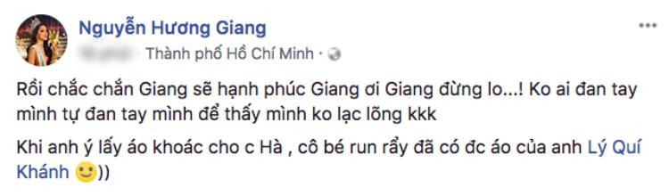 Nhìn Kim Lý nắm chặt tay người yêu, Hương Giang than thở: Không ai đan tay mình tự đan tay mình