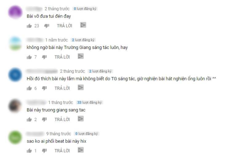 """Người hâm mộ đồng loạt """"đào mộ"""" lại loạt ca khúc cũ của Trường Giang."""