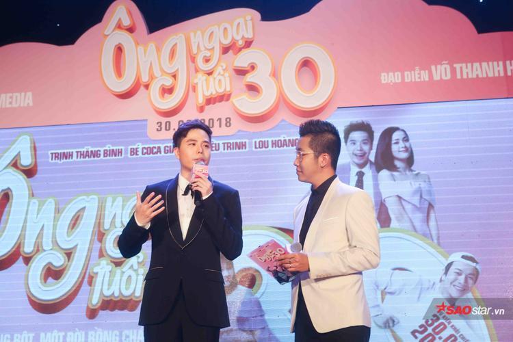 Trấn Thành phá lệ đến dự họp báo phim Ông ngoại tuổi 30 của Trịnh Thăng Bình, Kiều Trinh
