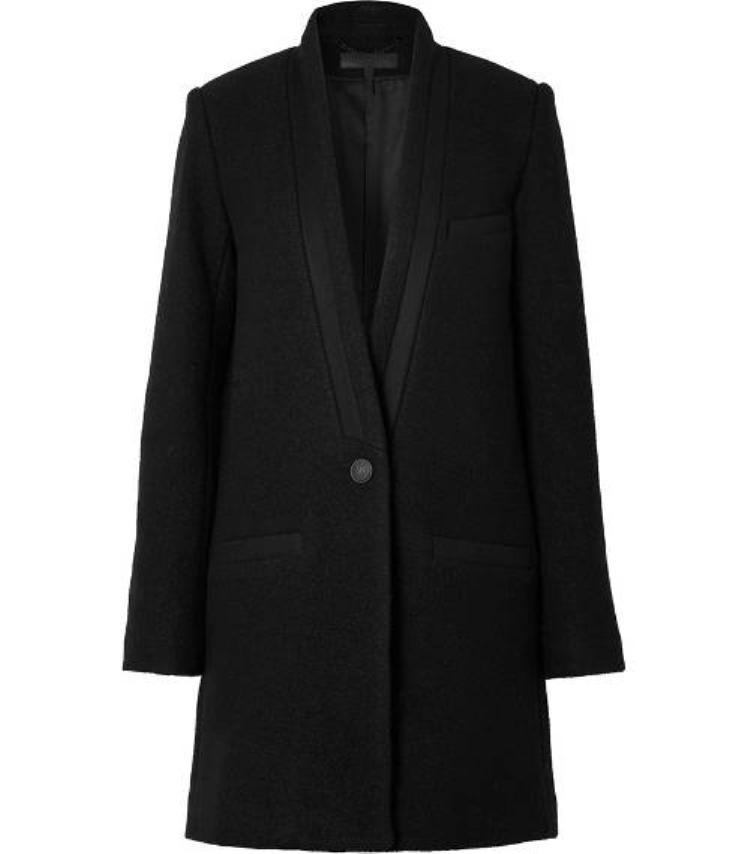Áo khoác blazer dáng dài đen trơn…