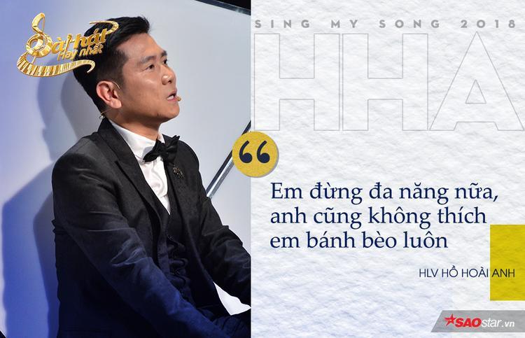 Sự hòa trộn giữa âm nhạc dân tộc, hiện đại và giai điệu Nam bộ khiến ca khúc của Shin Hồng Vịnh trở nên rối rắm. Tuy nhiên, với một nghệ sĩ nữ tài năng như chủ nhân bản hit Xin đừng lặng im, HLV Hồ Hoài anh không thể bỏ qua.