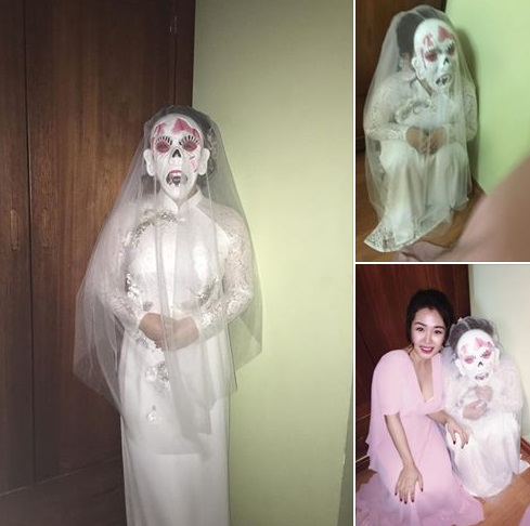 Đêm tân hôn, cô dâu bỗng nhiên mang mặt nạ quái vật bước vào khiến chú rể hết hồn!