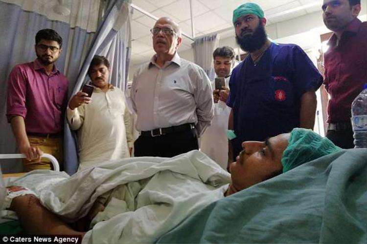 Hiện tạiMuhammad đang dần hồi phục sau khi phẫu thuật. ẢnhCaters News Agency