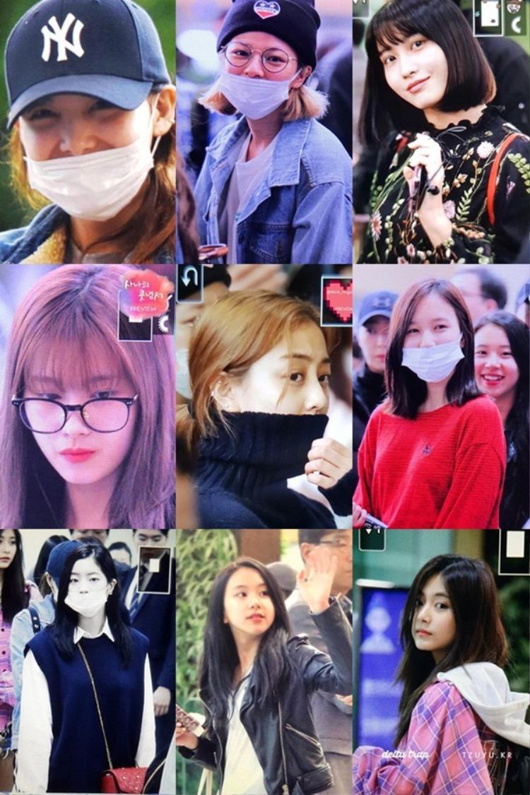 Hình ảnh các cô nàng tại sân bay sáng nay.
