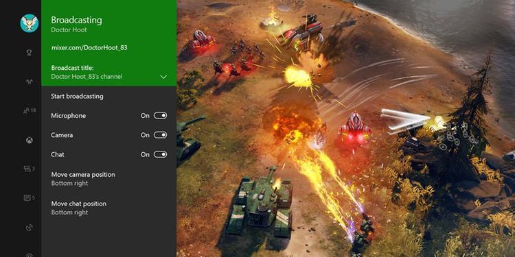 Mixer là nền tảng phát trực tuyến của Microsoft được tích hợp trên Windows 10 và bảng điều khiển trò chơi Xbox One. Ảnh: Microsoft