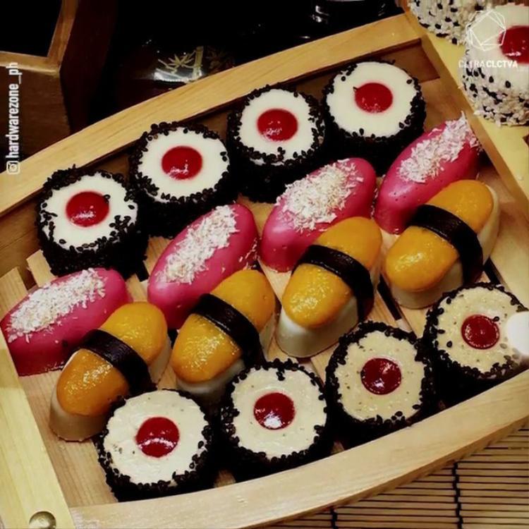 Nhìn xa cứ tưởng sushi, đến nơi mới biết sự thật về món tráng miệng ngon vượt sức tưởng tượng