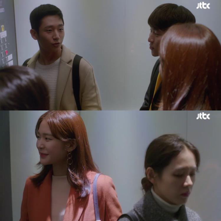 Yoon Jin Ah ghen khi cô đồng nghiệp trẻ Kang Se Young (Jung Yoo Jin) tỏ ra quan tâm đến Seo Jun Hee.