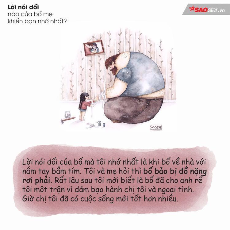 Lời nói dối nào của bố mẹ khiến bạn khó quên nhất trong đời?