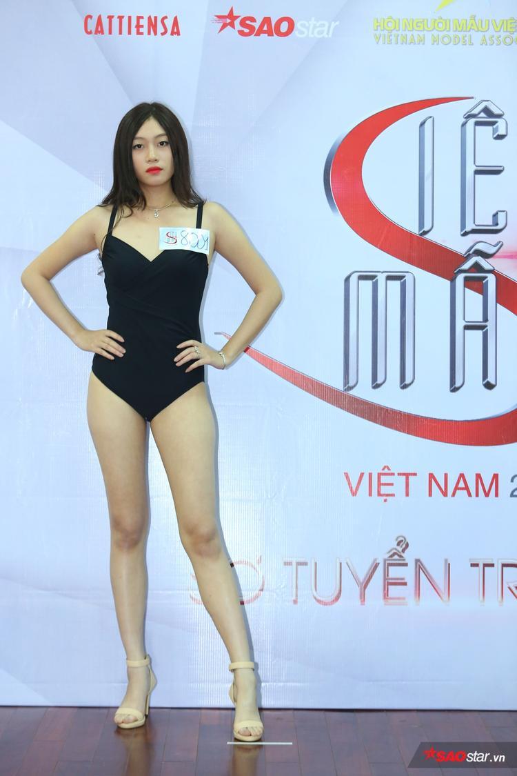 Trần Hải Linh, cao 1m78 cũng từng lọt bán kết Hoa khôi Sinh viên Việt Nam 2017. Ghi danh tại Siêu mẫu Việt Nam 2017, thí sinh đến từ Quảng Ninh được giám khảo nhận xét cần trau dồi, rèn luyện các kĩ năng catwalk nhiều hơn nữa.