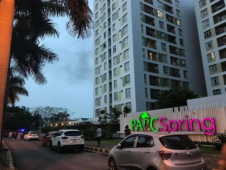 Chung cư ParcSpring là nơi tiếp theo sau Carina tại TP.HCM bị cháy.