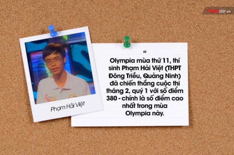 Những kỷ lục ấn tượng suốt 17 năm qua của Đường lên đỉnh Olympia