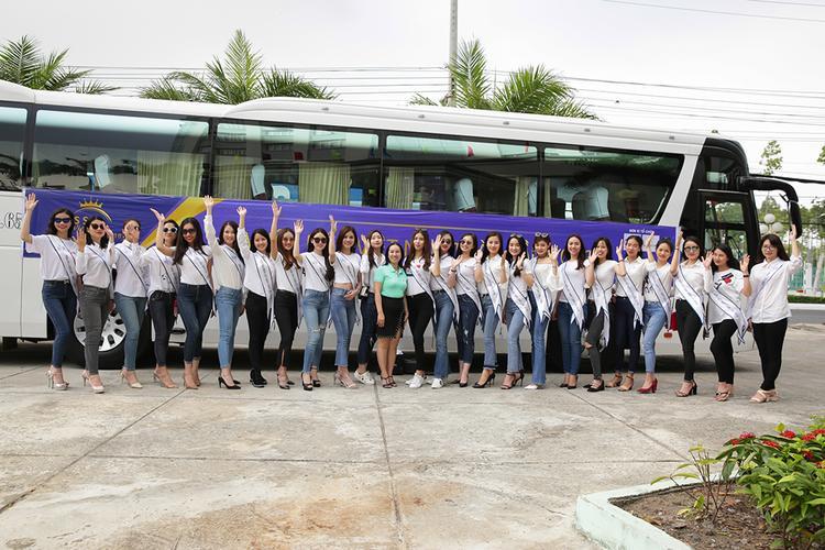 Các người đẹp đã đến Rạch Giá - Kiên Giang để chuẩn bị cho vòng bán kết.