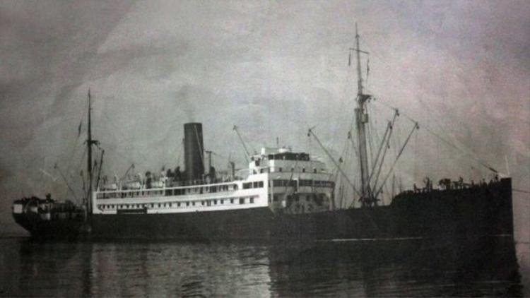 Con tàu SS Sagaing trước khi bị đánh chìm. Ảnh SRI LANKA NAVY