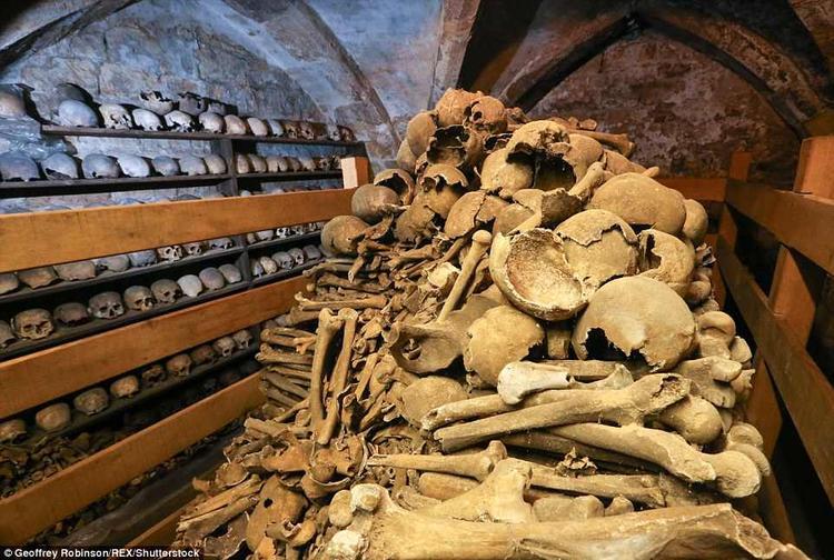 Hầm mộ được ví như những cảnh quay thường thấy trong phim kinh dị của Hollywood.Ảnh: REX
