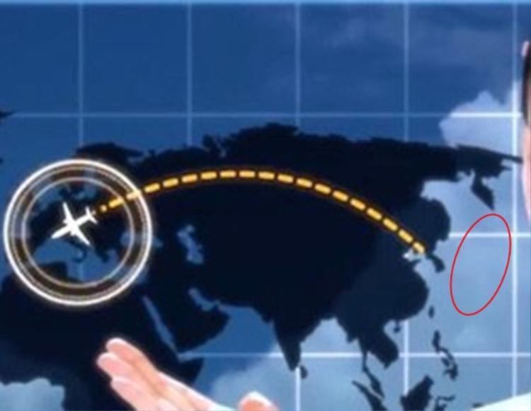 Nhật Bản không xuất hiện trên bản đồ MV này.