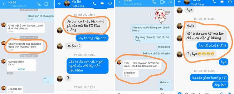 Lối nhắn tin xì tin của người mẹ