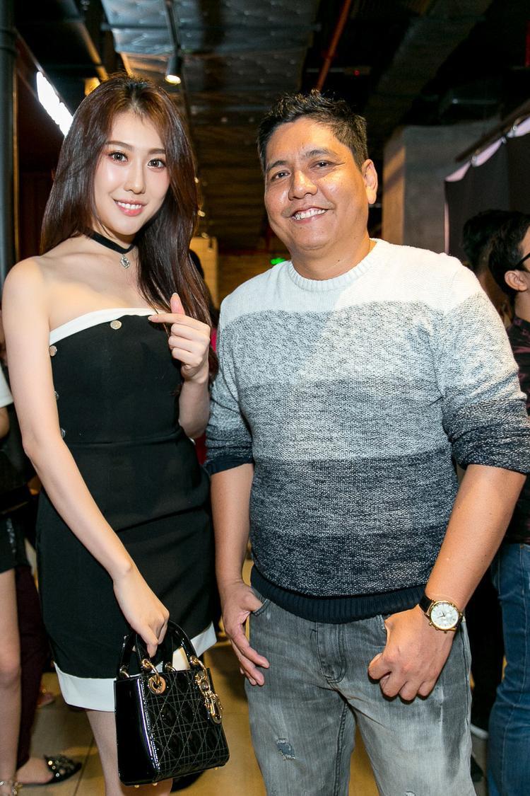 Hoa hậu Hoàng Kim cùng đạo diễn Đức Thịnh.