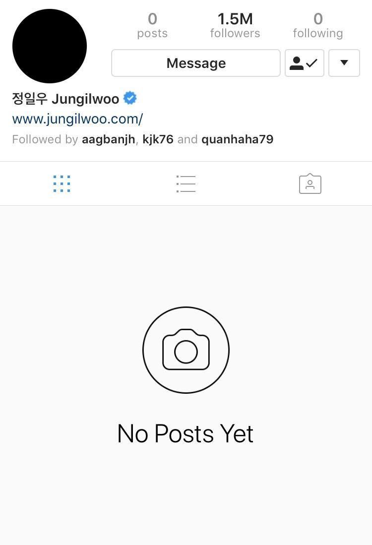 Tài khoản Instagram của nam diễn viên.
