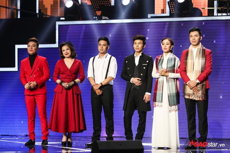 6 thí sinh team Quang Lê tiên phong trên sàn đấu Minishow: Bá Huy, Thuý Anh, Duy Toàn, Minh Thức, Thanh Lan, Đức Trường.