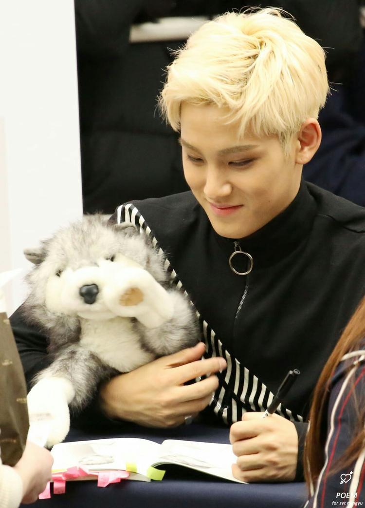 MinGyu đặc biệt thích cún con.