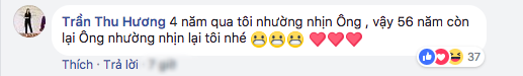 Bà xã Thu Hương đáp lại lời nhắn ngọt ngào của Tuấn Hưng.