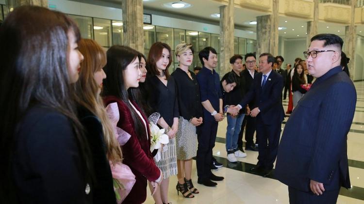 Chỉ có khoảnh khắc Red Velvet gặp chủ tịch Kim Jong Un được lên sóng.