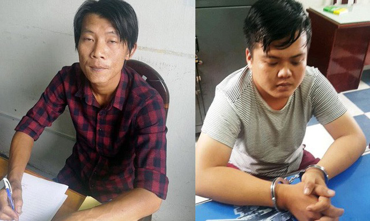 Nguyễn Trường Khải và Đào Ngọc Nam. Ảnh: Công an cung cấp.
