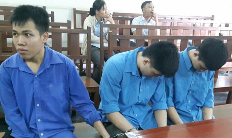 Ba bị cáo tại phiên xử phúc thẩm