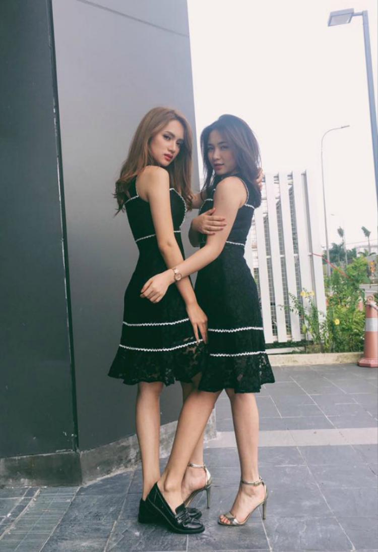 Hoà Minzy - Hương Giang là đôi bạn thân thiết trong V-biz.